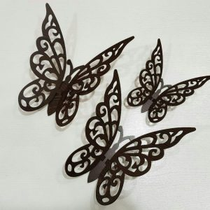 پروانه سه تیکه سه بعدی