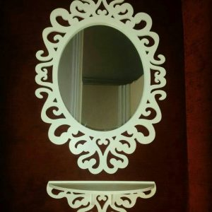 قاب آینه و کنسول بیضی