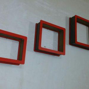 باکس دیواری سه تیکه مربع ساده