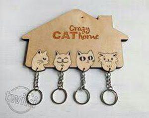 جاکلیدی دیواری طرح گربه ها