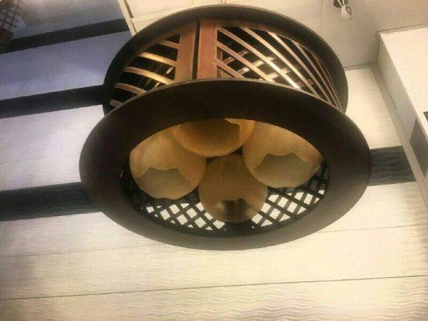 لوستر چوبی حباب دار