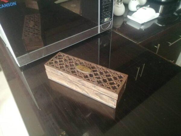 جعبه تی بگ چوبی پذیرایی تشریفاتی