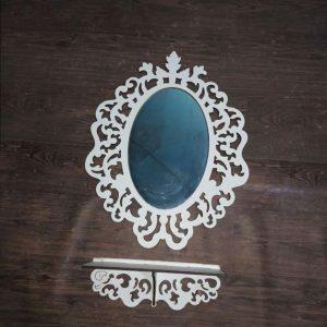 آینه کنسول بیضی