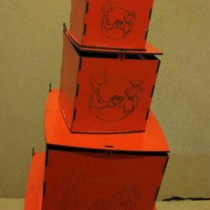 جعبه کادو مکعب