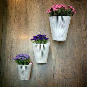 گلدان دیواری سه تیکه