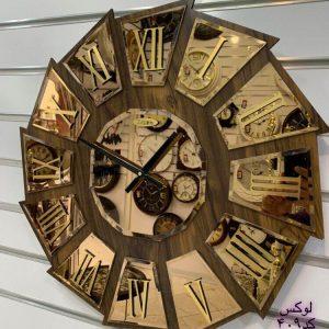 ساعت دیواری آینه ای تولیکا